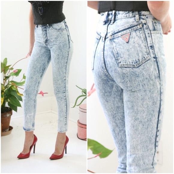 Vintage Skinny Jeans High Acid Guess Wash 1981 Rise Poshmark Jean U1Fpxx5qwW